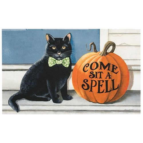 Cat & Pumpkin Spell Floor Mat
